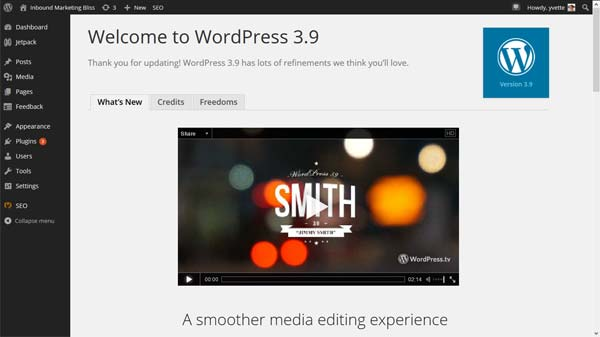 Wordpress 3.9 Is Out